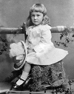 "PINK AND BLUE: Photo = President Teddy Roosevelt. Smithsonian explains: Boys and girls both wore dresses past the turn of the century. In the US, until the 1940's, the ""strong"" pink was a boy's color -- the ""dainty"" blue was for girls."