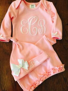 Hey, I found this really awesome Etsy listing at https://www.etsy.com/listing/233060317/newborn-girl-take-home-outfit-monogram