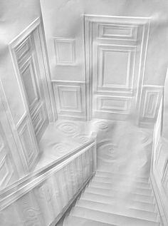 Folded paper art  Simon Schubert
