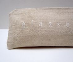glasses case with white letters by pilosale on Etsy. $12.00, via Etsy.