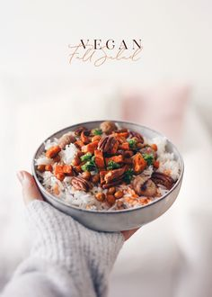 How To Eat Healthy, Even When You're Busy: Simple Nutrition Tips Food Design, Fall Recipes, Vegan Recipes, Autumn Recipes Vegan, Vegan Food, Rice Salad, Nutrition Tips, Nutrition Quotes, Food Menu