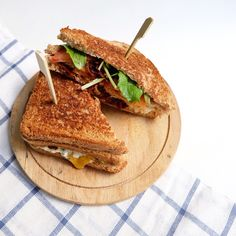 The 'so-much-going-on-inside' club sandwich.