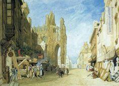 1823 Alencon, Normandy   watercolor