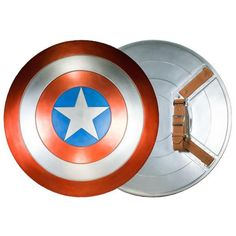 You might not have any super-soldier serum to boost your strength but you can still become the patriotic Avenger with the Captain America Prop Replica Shield, which was cast with the same molds used for the prop seen in The Avengers.  In the comic books, Cap's shield is made of Vibranium