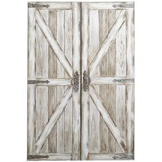 Pier 1 Imports Antique White Rustic Barn Doors Art ($199) ❤ liked on Polyvore featuring home, home decor, wall art, white, rustic wall art, rustic home decor, barn wall art, barn door wall art and pier 1 imports