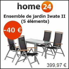 #missbonreduction; Remise de 40€ sur l'Ensemble de jardin Iwate II (5 éléments). http://www.miss-bon-reduction.fr//details-bon-reduction-Home24-i854755-c1835905.html