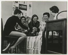 [Five Students Playing Cards, Mid-1950s] :: UNCG University Archives