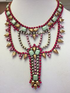 One of a Kind Hand Painted Vintage Rhinestone by LeVintageCestChic, $139.00