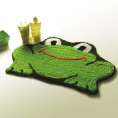 Naomi - [Frog] Kids Room Rugs (17.7 by 25.6 inches) $17.99 (save $9.00)