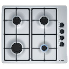 Buy Bosch PBP6B5B60 Gas Hob, Stainless Steel Online at johnlewis.com