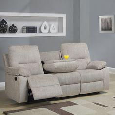 Corbridge Light Beige Chenille Double Recliner Sofa | Overstock.com