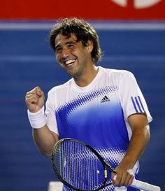 Marcos Baghdatis is hilarious on the court! I love to watch him play and he's from Greece too (well Cyprus but still...)!