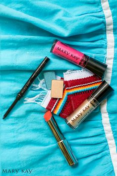 It's time to celebrate! Experiment with your look by mixing in colorful eye colors and party ready lip colors. You will feel festive in no time. | Mary Kay