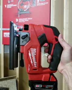 """Milwaukee is releasing the New M18 Fuel D-handle jigsaw in August. The barrel grip Fuel Jigsaw is coming closer to November. These new jigsaws really impressed me! The power was there super bright LED and a rapid blade brake. D-handle Available: August M18 FUEL D-Handle Kit (2737-21) Price: $299 kit ($199 bare) Features: Up to 105 cuts in 3/4"""" laminated particle board SPM: 0 - 3500 Stroke Length: 1 Orbital Settings: 4 Toolless Bevel with detents at 0 15 30 and 45 On/Off Blower Vac Adapter…"""