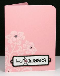 Love this card stamped in white and then color added for a simple, clean look from Lisa Carroll.