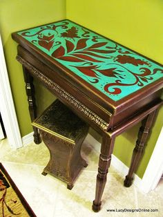 Vanity Table Makeover   Lucy Designs Διάφορες τεχνικές!!!!