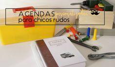 Agendas personalizadas para chicos, diseño de H A B I T A N 2 http://habitandos.blogspot.com.es