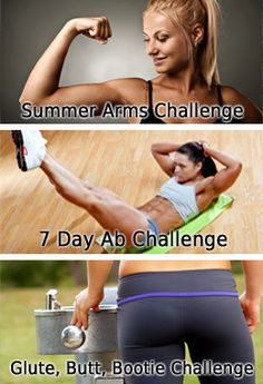 Top rated Fitness Challenges. Pin now, perform later. These really do work!!