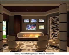 22 Contemporary Media Room Design Ideas – Famous Last Words Contemporary Bathrooms, Contemporary Design, Media Room Seating, Small Media Rooms, Mobile Home Makeovers, Media Room Design, Interior Design Awards, Remodeling Mobile Homes, Minimal Decor