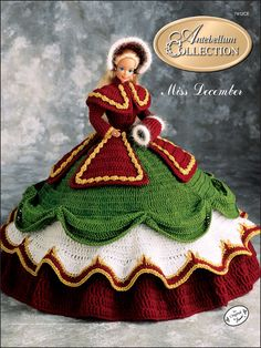 Crochet - Doll & Toy Patterns - Bed Doll Patterns - The Antebellum Collection Miss December 1991