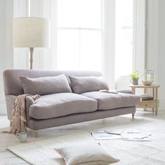 Small Timeless Classic Sofa   Mrs Smith Mrs Smith in thatch house fabric - Sofas   Loaf