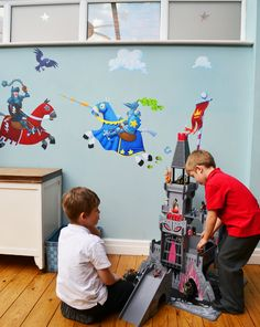 Jousting knight Wall Decals for boys!