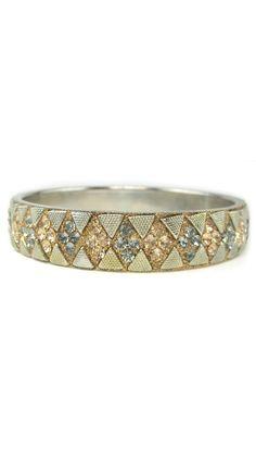 Austrian Crystal Diamond-Shaped Bangle
