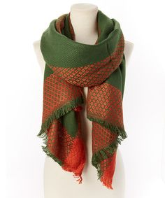 Another great find on #zulily! Green Lattice Scarf #zulilyfinds