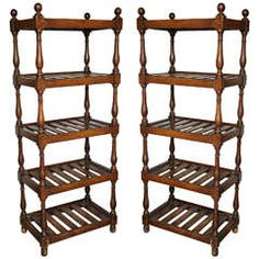 Pair of Deed Racks with Faux Graining