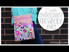 EASY Double Pocket Crossbody Bag | Whitney Sews - YouTube