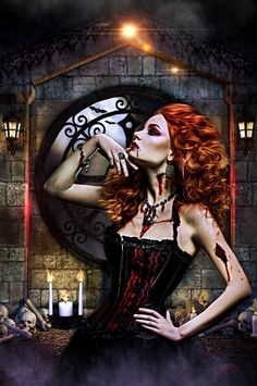 Glamour Vampire by sabinem1972