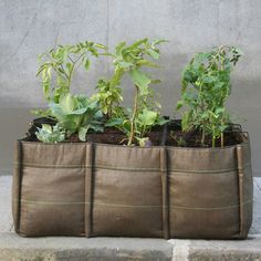 Portable garden containers, made out of 100% recycled materials and suitable for all climates.