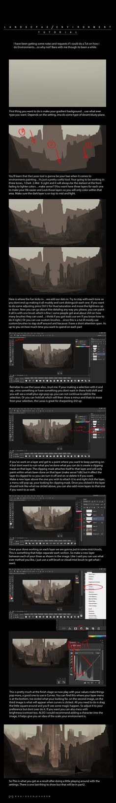 Environment Tutorial by Banished-shadow on deviantART