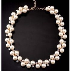 2015 Collares Collar Imitate Pearl Necklace Female Short Design Statement Necklaces & Pendants Fashion Jewelry For Woman N26