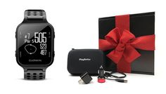 Garmin Approach S20 (Black) Gift Box Bundle | Includes Garmin Golf GPS Watch/Activity Tracker, PlayBetter USB Car and Wall Charging Adapters, Protective Hard Carrying Case -- For more information, visit image link.