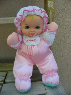 My very soft baby doll - I had six of these...one of them is sitting on my shelf right now :)