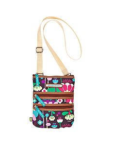 Lily Bloom Triple Zip Mini Crossbody Bag