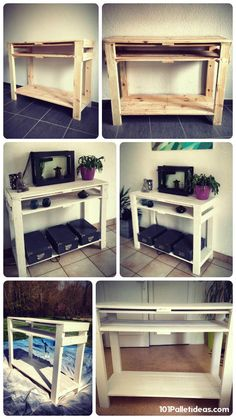 Pallet Entryway Table {Foyer Table} | 101 Pallet Ideas