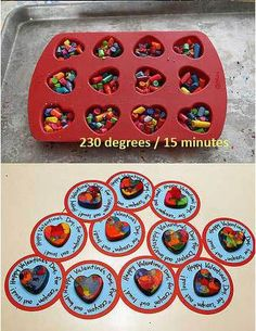 Valentine's Day Crafts for Kids: Heart Shaped Crayons Valentine Gifts For Kids, Valentine Day Crafts, Valentines Hearts, Homemade Valentines, Melted Crayon Heart, Melted Crayon Crafts, Valentines Bricolage, Broken Crayons, Diy Crayons
