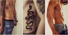 tatuajes en las costillas para hombres serpientes
