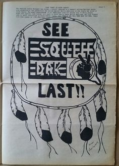 """(2 of 6) """"See South Dak Last!! - Roam Free in South Dakota - The American Indian Movement has chosen a boycott campaign as a means of calling national worldwide attention to the persecution and racism against Native Americans in the courts and state of South Dakota."""" - Wounded Knee Legal Defense / Offense Committee, Council Bluffs, Iowa, April 1975."""