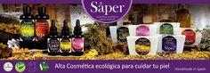 Colección de productos Saper. Alta cosmética ecológica para cuidar tu piel.
