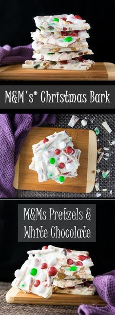 M&Ms Christmas Bark