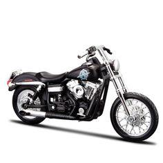 Miniatura Moto Sons of Anarchy Chibs – 2006 Harley-Davidson FXDBI Dyna Street Bob - Maisto 1:18 - Machine Cult | A loja das camisetas de carro e moto