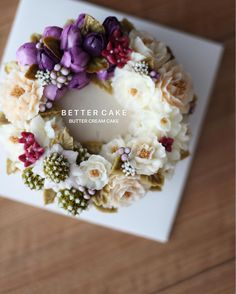 """. . Done by my student from Hongkong <span class=""""emoji emoji1f495""""></span> - So Lovely butter cream cake<span class=""""emoji emoji1f495""""></span><span class=""""emoji emoji1f495""""></span> . . (베러 심화클래스/Advance ..."""