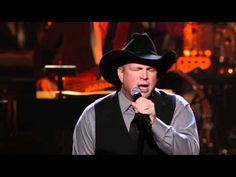 """Garth Brooks performs """"America the Beautiful"""" at the Points of Light Tribute event on March 2011 in Washington, DC. Music Songs, New Music, Rock Music, Garth Brooks The Dance, Friends In Low Places, Country Music Videos, Country Singers, Don Williams, George Jones"""