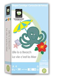 Cricut® Life is a Beach Cartridge - FAVE: Dolphin, Flip-Flops, Hibiscus, Turtle #Boutiquey