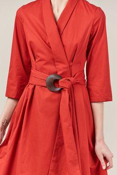 Isa Arfen - Robe dress with sash, siena