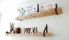 Wandplanken met stalen dragers van De Betoverde Zolder . Prachtige eye-catcher in iedere ruimte