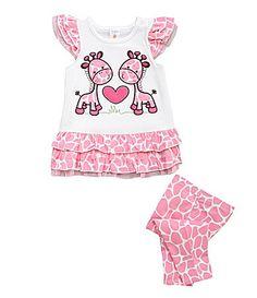 Starting Out Infant Pink Giraffe Leggings Set #Dillards